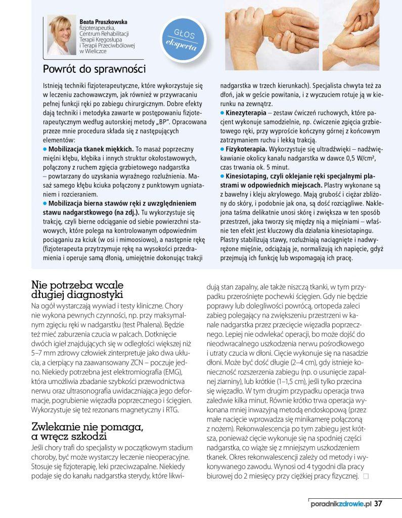Magazyn Zdrowie - kłopoty z nadgarstkiem